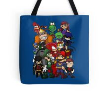 The Justice League of Nintendo and Sidekicks Tote Bag