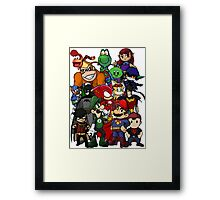 The Justice League of Nintendo and Sidekicks Framed Print