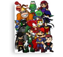 The Justice League of Nintendo and Sidekicks Canvas Print