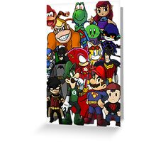 The Justice League of Nintendo and Sidekicks Greeting Card