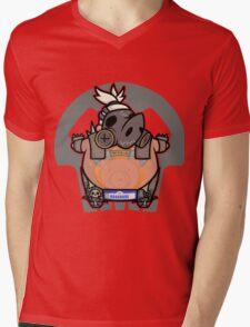 Apocalyptic Pig Mens V-Neck T-Shirt