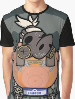 Apocalyptic Pig Graphic T-Shirt