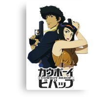 spike and faye valentine from cowboy bebop Canvas Print