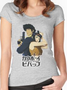 spike and faye valentine from cowboy bebop Women's Fitted Scoop T-Shirt