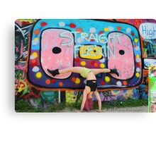 Graffiti Park - Model - Lin Tutu Canvas Print