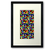 Tetris Blocks Game Over Framed Print