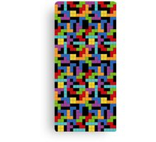 Tetris Blocks Game Over Canvas Print