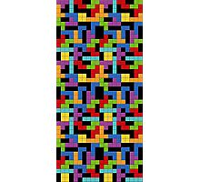 Tetris Blocks Game Over Photographic Print