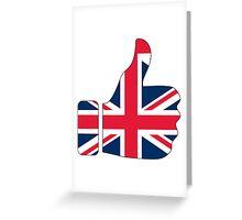 Thumbs Up United Kingdom Britain Greeting Card