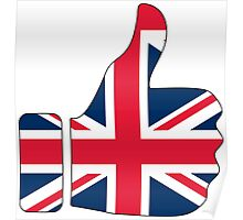 Thumbs Up United Kingdom Britain Poster