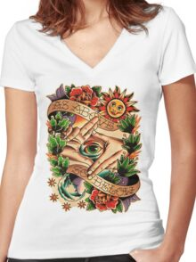 As Above So Below I Women's Fitted V-Neck T-Shirt