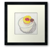 Peach in Bowl - Colored Pencil Framed Print