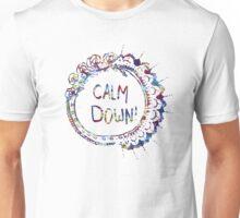 Calm Down (in tie dye) Unisex T-Shirt