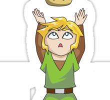 Zelda/Mario - Wait WUT on dark background Sticker