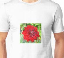 LARGE RED DAHLIA Unisex T-Shirt