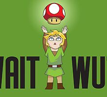 Zelda/Mario - Wait WUT by littlebearart