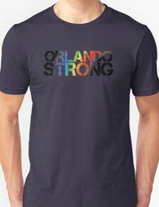 Orlando Strong - Black Rainbow Unisex T-Shirt