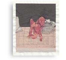 Mixed Media Cupid Canvas Print