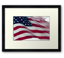 Old Glory in the wind Framed Print
