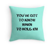 The Gambler T-Shirt - Texas Holdem Tee Throw Pillow