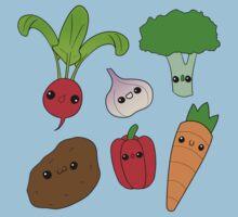 Chibi Veggies by myfluffy