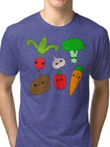 Chibi Veggies Tri-blend T-Shirt