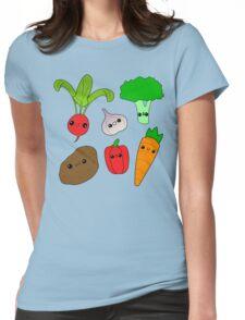 Chibi Veggies Womens Fitted T-Shirt