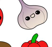 Chibi Veggies Sticker