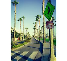 Santa Monica Street Photographic Print
