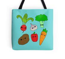 Chibi Veggies Tote Bag