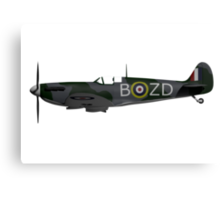 Spitfire Side View Canvas Print