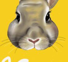 Go Vegan Sunshine rabbit! Sticker