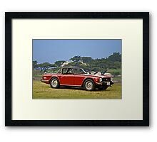 1976 Triumph TR6 Roadster Framed Print