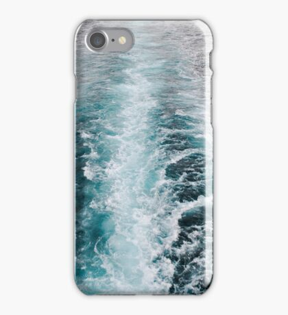 Deep blue wash from a boat iPhone Case/Skin