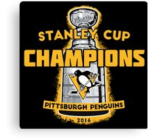 Penguins 2016 Cup Champs Canvas Print