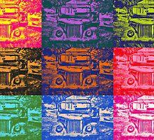 Warhol Inspired Jeep Pop Art by Kadwell