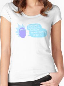 Sometimes Science is More Art Than Science Women's Fitted Scoop T-Shirt