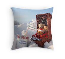 Bear's Winter Pleasure Pillow Throw Pillow