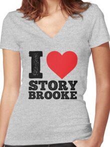 I Love Storybrooke Women's Fitted V-Neck T-Shirt