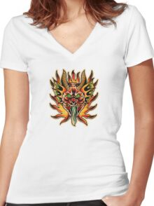 Spitshading 060 Women's Fitted V-Neck T-Shirt