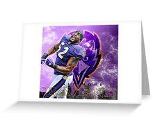 Ray Lewis Ravens Greeting Card