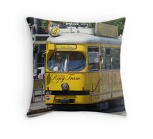Ring Tram Vienna Austria Throw Pillow