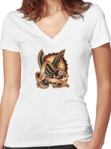 Spitshading 062 Women's Fitted V-Neck T-Shirt
