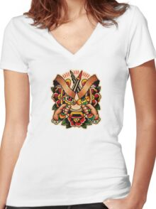 Spitshading 064 Women's Fitted V-Neck T-Shirt