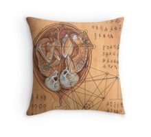 Twins-Page from the Book of Gosh Throw Pillow