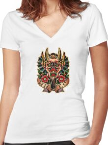 Spitshading 066 Women's Fitted V-Neck T-Shirt