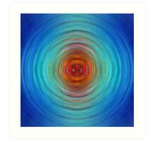 Center Point - Abstract Art By Sharon Cummings Art Print