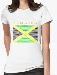 JAMAICA, STAR Womens Fitted T-Shirt