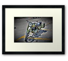Motorcycle Mania Framed Print