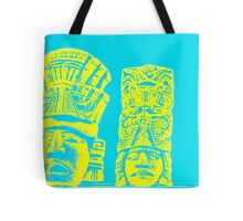 Mayan pattern on a bright blue background  Tote Bag